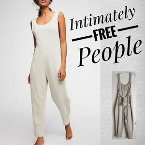 FREE PEOPLE INTIMATELY Gray Baggy Jumpsuit Jumper